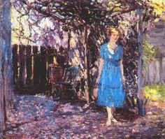 "Catherine Wiley American 1879 - 1958 ""By the Arbor"""