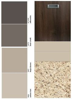 Color palette to go with our oak kitchen cabinet line for Warm cream paint colors