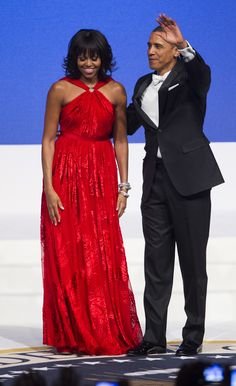 2013: Michelle Obama | First Lady Michelle Obama chose Jason Wu again for the 2013 inauguration of President Obama, and positively shined in the bright red gown. (Photo by Brooks Kraft LLC/Corbis via Getty Images)  via @AOL_Lifestyle Read more: https://www.aol.com/article/lifestyle/2017/01/18/first-ladies-inauguration-ball-gowns-50-years/21657651/?a_dgi=aolshare_pinterest#fullscreen