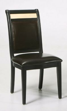 """Armen Living Casual Dining Side Chair in Espresso Finish by Armen Living. $393.99. Length 17. Width 19. Color Brown. Height 39. Reflecting the lifestyle and trends of today with an eye towards tomorrow, the Armen ArtDining Chairs blends distinctive styling with a contemporary flair that will truly enhance your dining experience. Featuresand Specifications: Overall dimension: 39""""H x 17""""D x 19""""W Weight:22 lbs. 100% dark brown leather Marble inlay Espresso w..."""