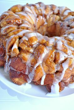 Monkey bread made from everyone's favorite cinnamon rolls! Ooey, gooey, and delicious! And super duper easy.