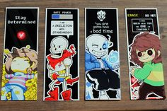 Set of points of Undertale book. Set of four Undertale Undertale Cosplay, Undertale Fanart, Undertale Comic, Undertale Ships, Undertale Quotes, Undertale Drawings, Ads Creative, Digital Illustration, Bookmarks