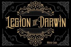 Legion of Darwin. Blackletter Fonts. $25.00