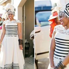 Xhosa attire is so versatile you can customise it any way you wish. Loving how this bride customised her dress and her smile 💖💕💖💗❤. 📷 @zarazoo