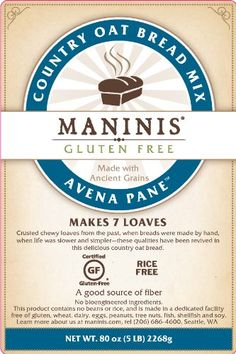 MANINIS Ancient Grains Gluten Free Country Oat Bread Mix (5lb bag) MANINIS Gluten Free http://www.amazon.com/dp/B00C36XZU6/ref=cm_sw_r_pi_dp_s0IVtb19986N3FNS