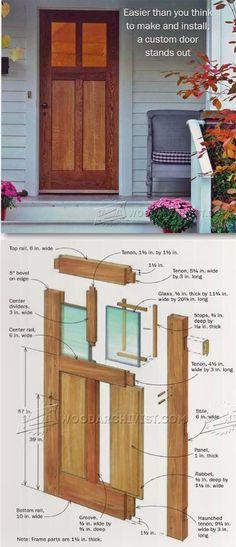 Build Front Door - Door Construction and Techniques   WoodArchivist.com #woodworkingprojects