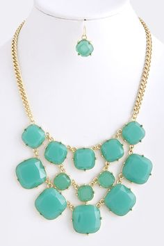 You're a Square Necklace-Teal, $17.00