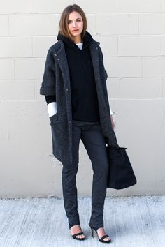 MINIMAL + CLASSIC: Topper Coat - Iron Pebble Wool | Emerson Fry