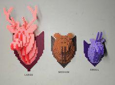 Bear Head 3D Perler Bead Puzzle Wall Decor par Pixelixir