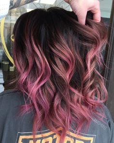 Pastel Pink Hair, Hair Color Purple, Cool Hair Color, Ombre Colour, Pretty Pastel, Pink Purple Hair, Pink Hair Tips, Purple Style, Trendy Hair Colour