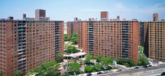 Where I grew up, with my mom: LeFrak City, Queens, NY...