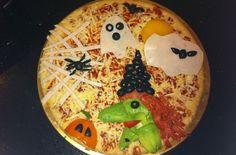 halloween themed pizza