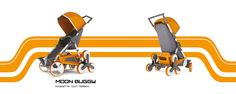 Moonbuggy :All terrain Stroller on Behance Sketch Inspiration, Marketing And Advertising, Baby Strollers, Baby Kids, Bicycle, Behance, Cool Stuff, Product Design, Safety