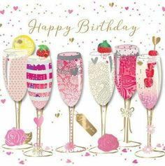 GBP - Happy Birthday Prosecco Handmade Embellished Greeting Card By Talking Pictures C & Garden Birthday Greetings For Dad, Free Happy Birthday Cards, Happy Birthday Friend, Happy Birthday Pictures, Happy Birthday Messages, Happy Birthday Quotes, Happy Pictures, Card Birthday, Birthday Woman