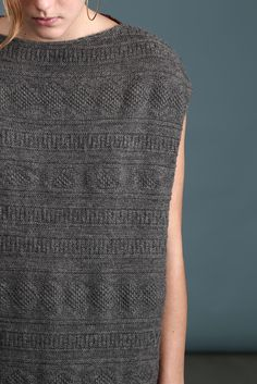 beautiful knitting, I like the varying stitches, maybe for a blanket or shirt.