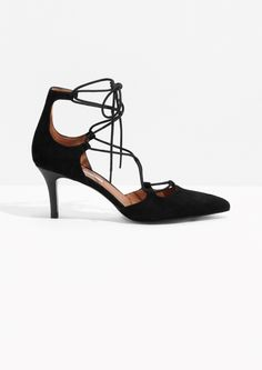 & Other Stories image 1 of Suede Lacing Pumps in Black