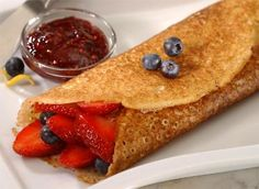 Crepe recipe using Pamela's baking & pancake mix