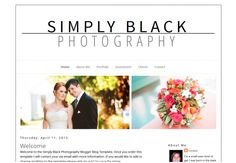 Simply Black Blogger Blog Template - Luvly Marketplace | Premium Design Resources