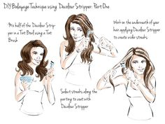 Scott Cornwall Hair Expert: Home Balayage Step by Step Tutorial: Medium to Light Brown Bases