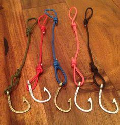 Fish hook bracelets by CCCountryCharm on Etsy