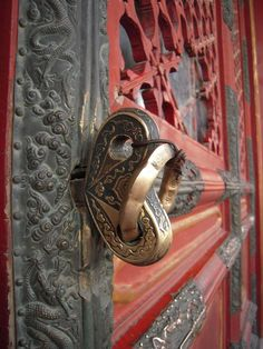 Intricate door handle.