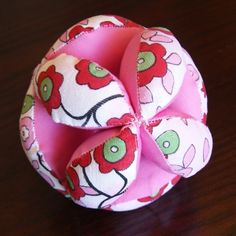 Tutorial for fabric ball - easier than I would have imagined!