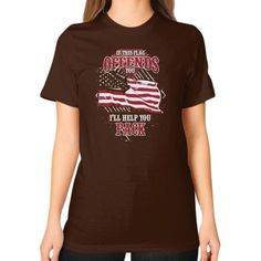 Aircraft mechanic love his country Unisex T-Shirt (on woman)