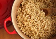 love this recipe on how to bake brown rice in the oven, as opposed to the stove top.