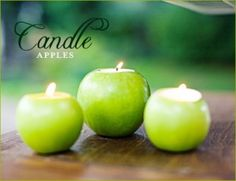 candles in apples