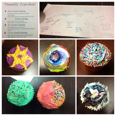 Program to address diversity-- each color icing, sprinkle, topping, type of cupcake, etc. means something different about an individual's identity. Everyone can decorate their cupcake and then share