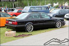 Black Audi V8