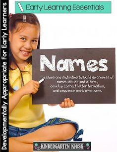 Kindergarten Kiosk: Teaching Early Learners to Write and Spell Their Name & Names of Others
