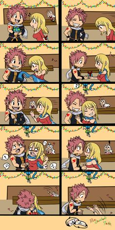 Tags: FAIRY TAIL, Natsu Dragneel, Lucy Heartfilia, Happy (Fairy Tail) look at Mira in the back xP she so ships nalu Fairy Tail Love, Fairy Tail Nalu, Arte Fairy Tail, Image Fairy Tail, Fairy Tail Images, Fairy Tale Anime, Fairy Tail Natsu And Lucy, Fairy Tail Guild, Fairy Tail Ships