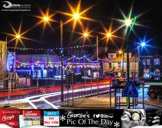 Guernsey's Northern Lights (Aurora Bridgealis). Christmas on the Bridge #LoveGuernsey — in Guernsey.