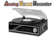 geanee PCリンク付カセット/レコードプレーヤー TCE-26WPC ■アナログ音源をPCへ保存!PCリンク付き 本...