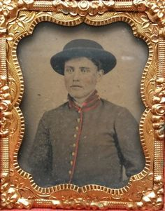 Original-Tintype-C-S-A-Artillery-Soldier-in-Constitution-Case-1-9th-Plate