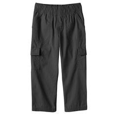Jumping Beans® Solid Canvas Cargo Pants