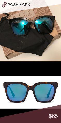 7f618fe4e7c Diff Eyewear Bella Sunglasses Bella style. Tortoise frame  blue mirror  polarized lens. Never