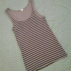 J. Crew Striped Tank Perfect condition! Super cute and soft. Black and gray stripes. Lovely! Nice and durable material. This tank will last a life time! J. Crew Tops Tank Tops