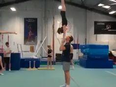 Insane Cheerleader Toss! | Watch the video wow @Jillian Jungels