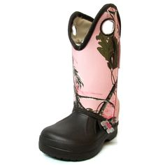 Ugly Kracomucker Kids Brown with Pink RealTree Camo Boots Camo Boots, Realtree Camo, Kids Boots, Being Ugly, Rubber Rain Boots, Brown, Pink, Shoes, Fashion