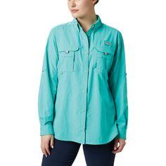 Columbia Women's Bahama LS Shirt - Mountain Steals S Shirt, Denim Shirt, Pfg Shirts, Columbia Shirt, Columbia Sportswear, Roll Up Sleeves, Fishing Shirts, Long Sleeve Shirts, Rain Jacket