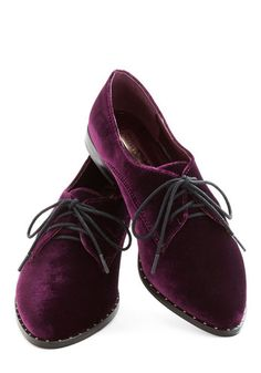 Make Mine Malbec Flat - Red, Menswear Inspired, Flat, Lace Up, Purple, Solid, Studs, Fall, 90s, Better