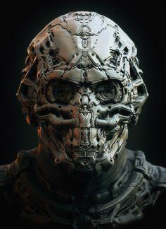 Sculpt by Pavel – zbrushtuts More Cyberpunk Art Armor Concept, Concept Art, Character Concept, Character Art, Science Fiction, Art Cyberpunk, Steampunk, Arte Robot, Sci Fi Armor