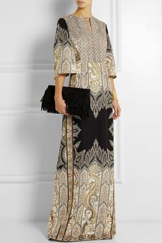 Etro | Embellished printed silk-crepe gown | $4,100 | NET-A-PORTER.COM