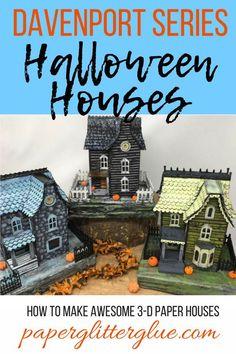 Get putz houses HD Wallpaper [] www. Halloween Village, Halloween Haunted Houses, Halloween Items, Diy Halloween Decorations, Halloween House, Cute Halloween, Holidays Halloween, Halloween Crafts, Paper Halloween