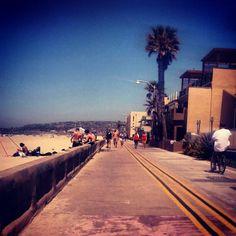 run by the beach:) Mission Beach Boardwalk. America's Finest, Mission Beach, San Diego Houses, Beach Boardwalk, Honeymoon Ideas, California Dreamin', Beach Bum, City Life, Amazing Places