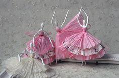 balerina, balett, papír, selyempapír, szalvéta,