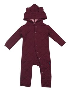 Kickee Pants Quilted Hoodie Coverall - Baby Girls
