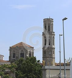 FIGUERAS, SPAIN - JULY 17, 2013: Cathedral in Figueras near the Museum of of Salvador Dali on July 17, 2013